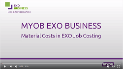 Material Costs in EXO Job Costing